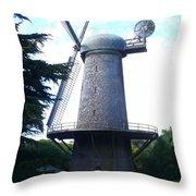 Windmill In Golden Gate Park Throw Pillow