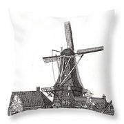 Windmill In Meppel, Holland 2016 Throw Pillow