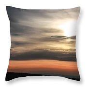 Windmill In Sunrise Throw Pillow