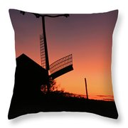 Windmill In The Afterglow. Throw Pillow