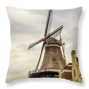 Windmill In The Clouds 2 Throw Pillow