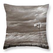 Windmill Sepia Throw Pillow
