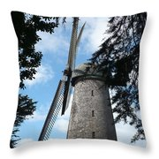 Windmill Through The Trees Throw Pillow