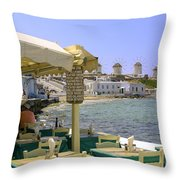 Windmill View Throw Pillow