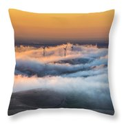 Windmills And Hills Throw Pillow