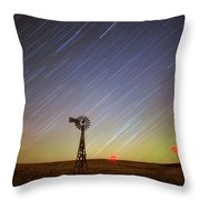 Windmills And Stars Throw Pillow