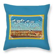 Windmills Of Texas Throw Pillow