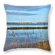 Windmills On A Windless Morning Throw Pillow