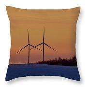 Windmills Sync Throw Pillow
