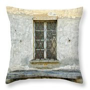 Window And Bench Throw Pillow