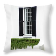 Window And Black Shutters Throw Pillow