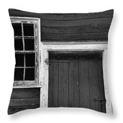 Window And Door Bw Throw Pillow