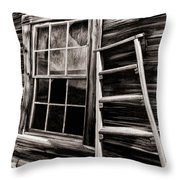 Window And Ladder Throw Pillow
