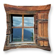 Window And Reflection Throw Pillow
