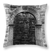 Window At Donegal Castle Ireland Throw Pillow