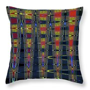 Window At Tempe Center For The Arts Abstract Throw Pillow