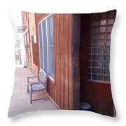 Window Bench Seat Color Neutral Throw Pillow