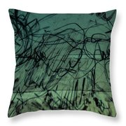 Window Drawing 010 Throw Pillow