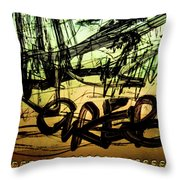 Window Drawing 04 Throw Pillow