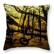 Window Drawing 06 Throw Pillow by Grebo Gray