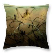 Window Drawing 07 Throw Pillow by Grebo Gray