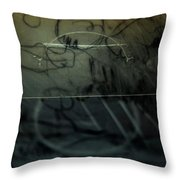 Window Drawing 08 Throw Pillow by Grebo Gray