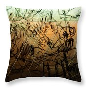 Window Drawing 09 Throw Pillow
