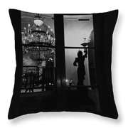 Window Dressing Throw Pillow