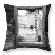 Window Frame Throw Pillow