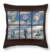 Window Garden Throw Pillow