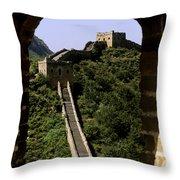 Window Great Wall Throw Pillow