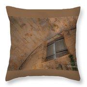 Window In Castillo De San Marcos Throw Pillow