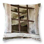 Window In The Amana Farmer's Market Barn Amana Ia Throw Pillow
