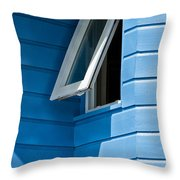 Window In The Corner In St Lucia Throw Pillow