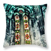Window In The Lisbon Cathedral Throw Pillow