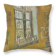 Window In The Studio Saint-remy-de-provence, September - October 1889 Vincent Van Gogh 1853 - 1890 Throw Pillow