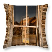 Window Into The Montana Past Throw Pillow