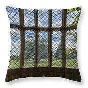 Lacock Abbey Wales Throw Pillow