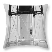 Window Lighthouse Throw Pillow