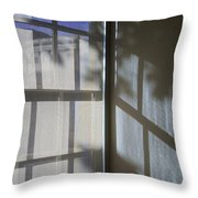 Window Lines Throw Pillow