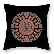 Window Mosaic - Mandala - Transparent Throw Pillow