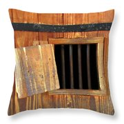 Window Of Darkness Throw Pillow