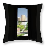 Window Of Downtown Throw Pillow