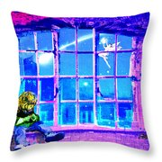 Window Of Dreams Throw Pillow
