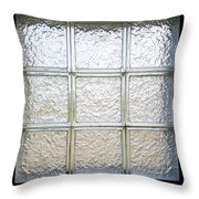 Window Of Glass Throw Pillow