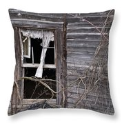 Window Of Loneliness Throw Pillow