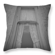 Window Of Mount Vernon Place Throw Pillow