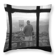Window On White Mountain Throw Pillow
