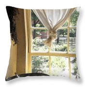 Window On Yesterday Throw Pillow