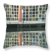Window Reflection Throw Pillow by Don Perino
